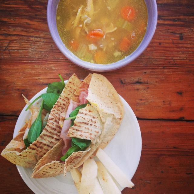 pita and soup
